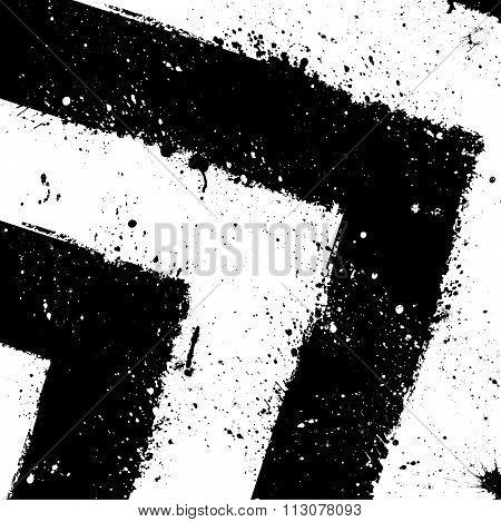 Grunge ink blots background