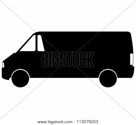 van icon shown on a white background