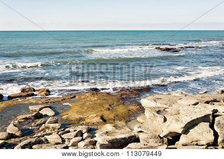 Rocky Shore Of Caspian Sea