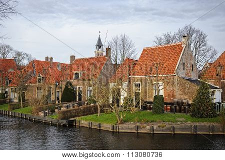 ENKHUIZEN,NORTH-HOLLAND/NETHERLANDS-DECEMBER26: Open-air Museum On December 26, 2015 in Enkhuizen,NL