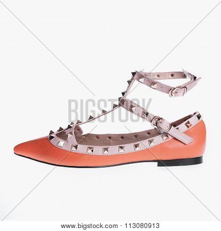 Orange Patent Leather Shoes