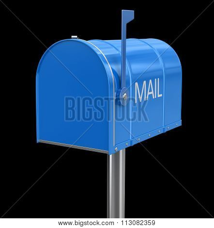 mailbox. Image with clipping path