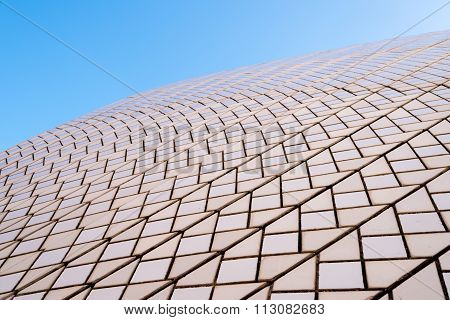 Sydney, Australia - January 11, 2014 : Architectural Detail Of Opera House In Sydney, Australia