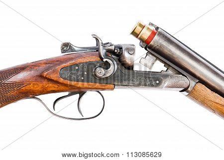 Hunting Rifle On White Background