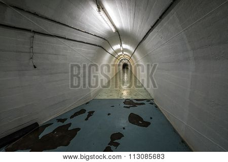 Konjic, Bosnia and Herzegovina - August 25, 2015: Inside the bunker of Josip Broz Tito near Konjic city in Bosnia and Herzegovina