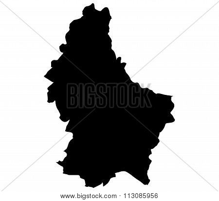 Luxembourg map shown on a white background