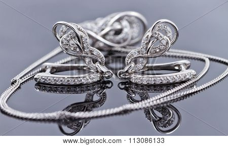 Elegant Silver Earrings In The Shape Of A Horseshoe