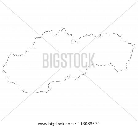 Slovakia map shown on a white background
