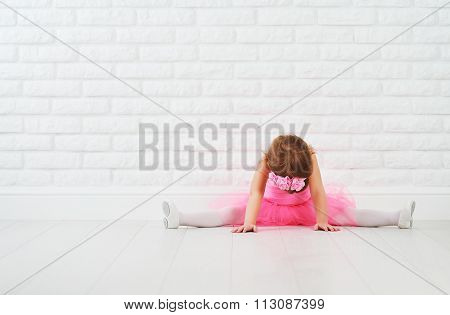 Little Girl Dancer Ballet Ballerina Stretching