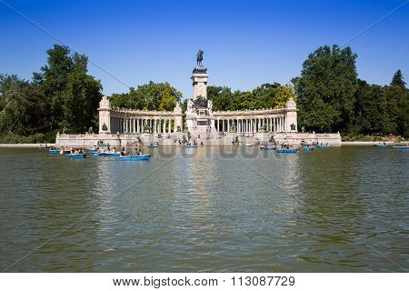 MADRID,SPAIN-15,JUNE,2014:Monument To Alfonso XII InMadrid