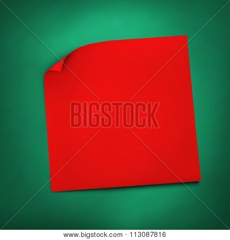 Red Stick Realistic Paper Note