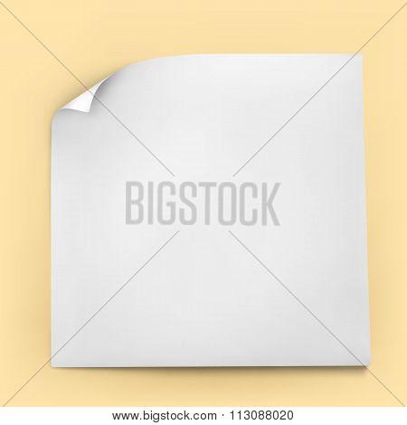 White Stick Paper Note