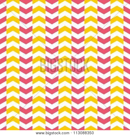 Tile vector pattern with yellow and pink arrows