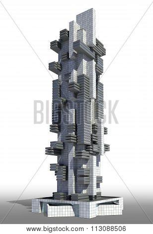 Futuristic city architecture