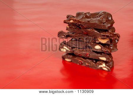 Chocolate Cashew And Dried Cherry Bark