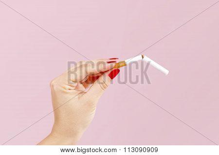 Breaking The Last Cigarette.