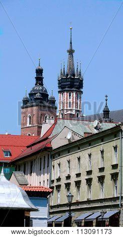 Roof Peaks In Krakow