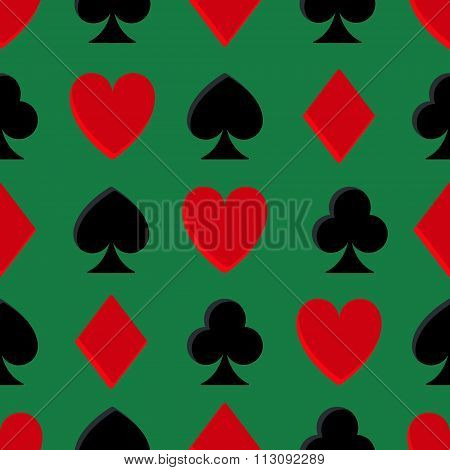 Casino poker seamless pattern