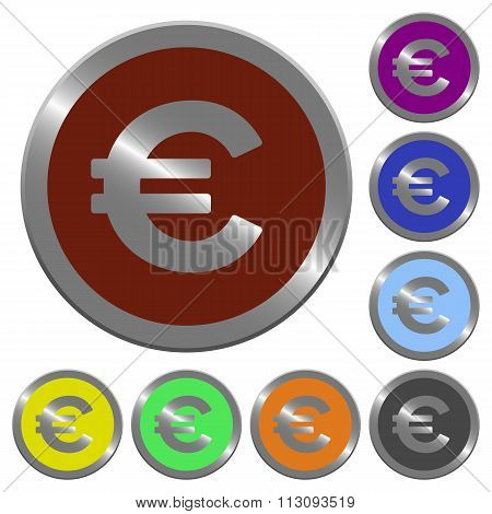 Color Euro Sign Buttons
