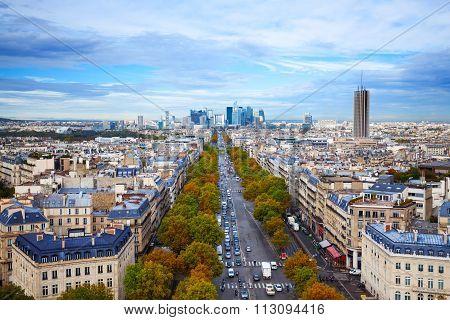The Avenue des Champs-Elysees in Paris