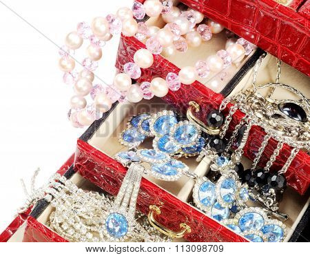 Treasure chest over white
