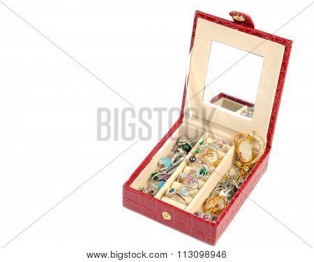 Treasure chest over white