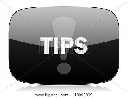 tips black glossy web modern icon