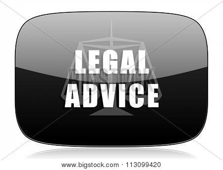 legal advice black glossy web modern icon