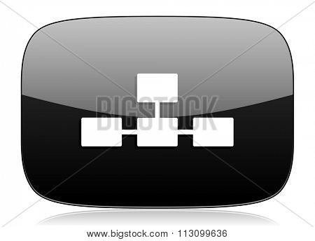 database black glossy web modern icon