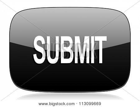 submit black glossy web modern icon