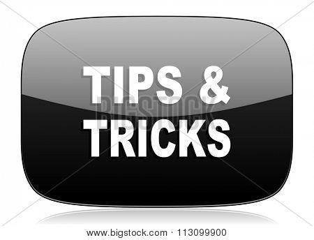 tips tricks black glossy web modern icon