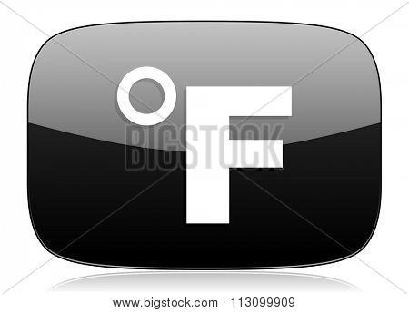 fahrenheit black glossy web modern icon