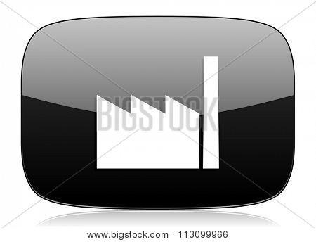 factory black glossy web modern icon