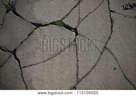 Defected Asphalt Surface