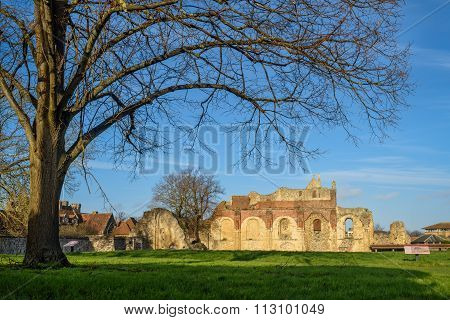 Ruins Of St Augustine's Abbey In Canterbury, England.