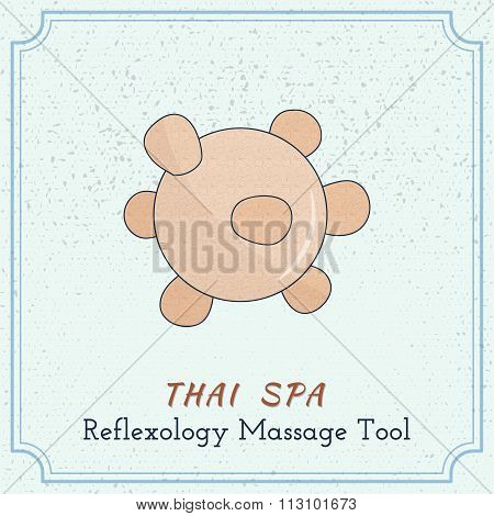 Wooden Tool For Thai Massage.