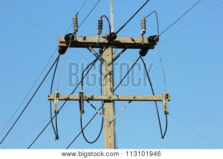 Connection of power line