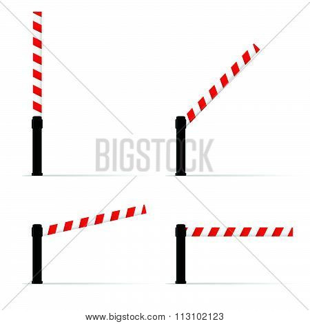 Toll Booth Set Vector On Road