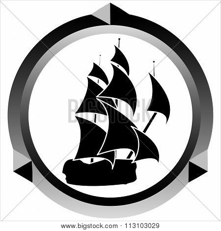 Icon Of A Sailboat