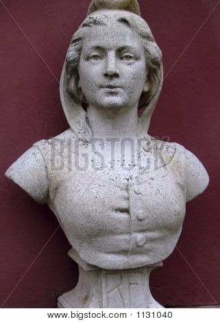 Stone Head Of Aristocratic Woman