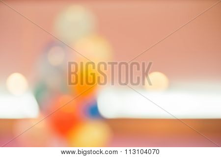 Blurred Background : Party Decoration With Balloon, Entertainment Lifestyle Concept, Vintage Filtere