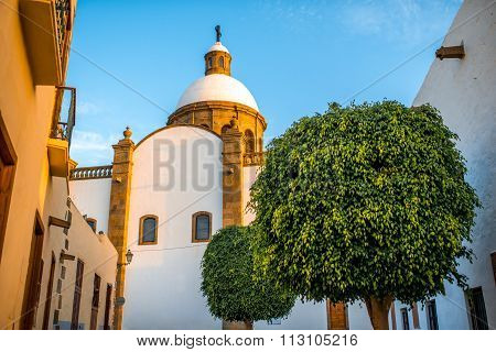 Aguimes town on Canary island