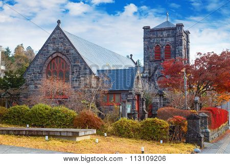 The Nikko Shinko Church Chapel in Nikko, Tochigi Japan