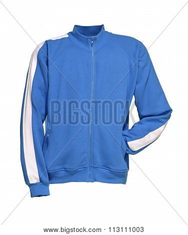 Sweat Jacket Aqua Blue