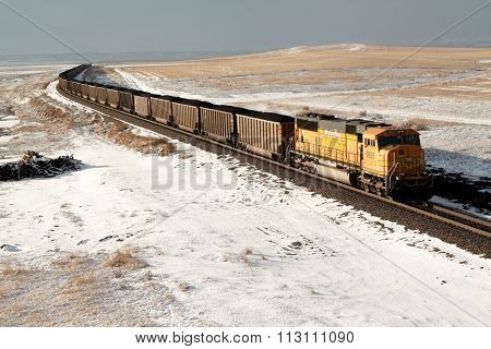 Coal Train on Plains