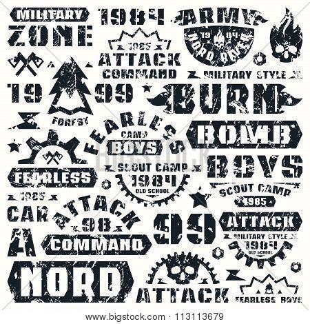 Military Typographic Elements