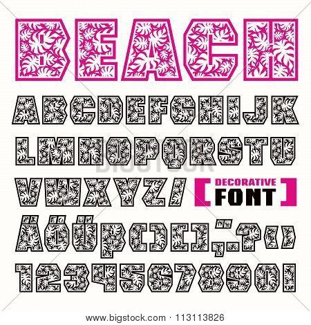 Sanserif Decorative Font