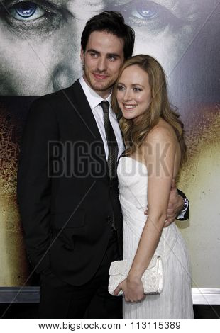 HOLLYWOOD, CALIFORNIA - January 26, 2010. Colin O'Donoghue and Helen O'Donoghue at the Los Angeles premiere of