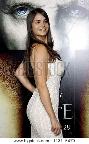 HOLLYWOOD, CALIFORNIA - January 26, 2010. Marija Karan at the Los Angeles premiere of