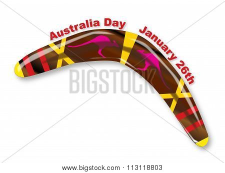 Australia Day Decorated Boomerang